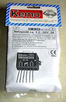 Netzgerät ca. 1,2 - 30 V/DC, max. 2 A / Modul Kemo-Electronic