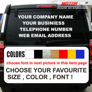 AZMELON Personalised Custom Your Text Business Name Tele Number Phone Website