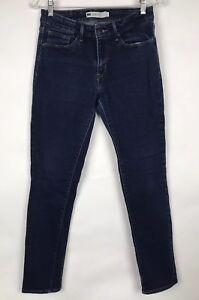 Levi-039-s-Women-Mid-Rise-Skinny-Leg-Stretch-Denim-Blue-Jeans-Size-8