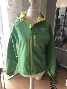 check out 065ce fc3c6 Details zu The North Face Softcell Jacke grün Gr L 14/16 wie Neu