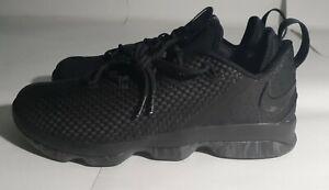 Nike-Lebron-14-XIV-Low-Triple-Black-Size-12-Basketball-Shoes-878636-002-James