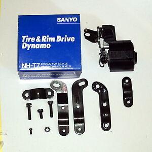 SANYO-nh-t7-laminazione-DINAMO-NOS-2-4-Watt-6-Volt-laminazione-Bicicletta-Dinamo-NUOVO-OVP