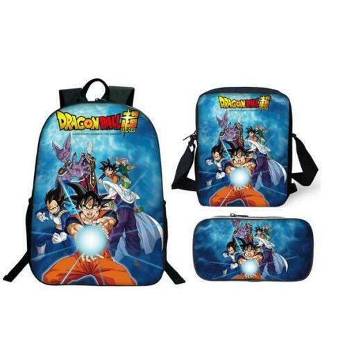 Dragon Ball Super God Family Backpack Satchel School Book Pen Bag Summer Gift