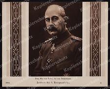or Bufa-Foto Prinz Max v. Baden General Uniform Orden Adel 9. Kriegsanleihe 1918