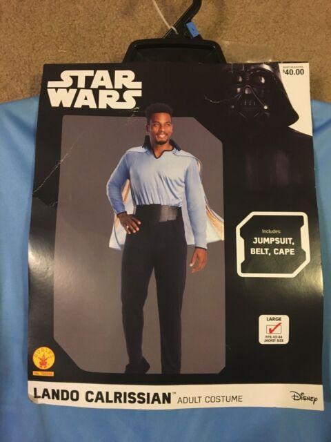 Rubies 700545 Star Wars LANDO CALRISSIAN Adult Men's Costume Large 42-44 Cosplay