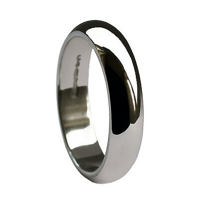 Profile D Shaped Finger Size H-Z+2 Hallmarked 9ct Yellow Gold Wedding Ring 3mm