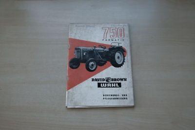 193144) David Brown Wahl 750 Farmatic Schlepper Handbuch 196? GroßE Vielfalt