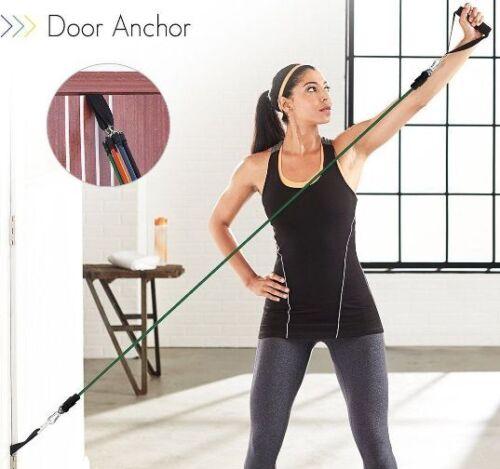 Nouveau 11pc Entraînement Résistance en Sac set exercice fitness Tubes /& Bandes USA Vendeur
