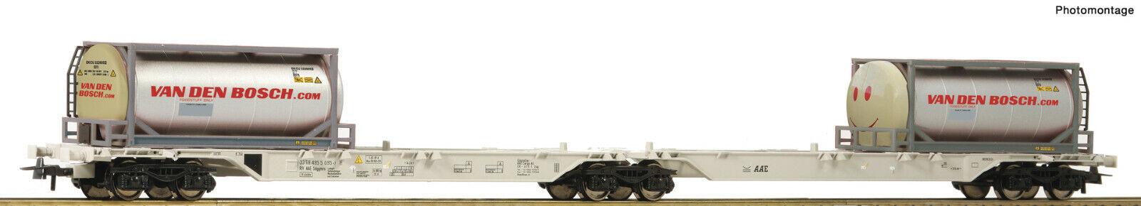 Roco H0 76928 Double Container Wagon   Van Den Bosch   Smiley   Aae - New +Box