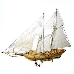 DIY 1:130 Segelschiff Modellschiff Holz Segelboot Kit Kinder Spielzeug Geschenke