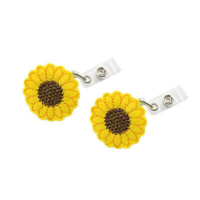 Sunflower Retractable Reel Recoil ID Badge Lanyard Name Tag Key Holder Belt fds