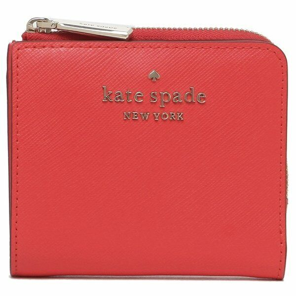 NWT KATE SPADE NEW YORK Staci Small Card Case Coin Wallet Digital Red WLR00143
