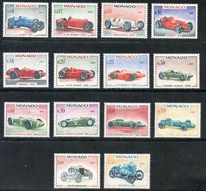 Audacieux Stamp / Timbre Monaco Serie N° 708/721 ** Voiture De Vainqueurs Cote + 24 €