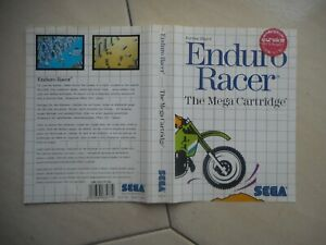 Cover Only X Box Genuine Original Vintage Enduro Racer Sega Master System Pourtant Pas Vulgaire