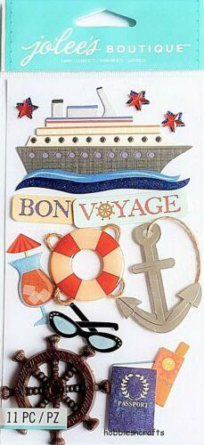 Bon voyage Jolee/'s Boutique 3-D Autocollants navire de croisière Cruising Cruise passeport