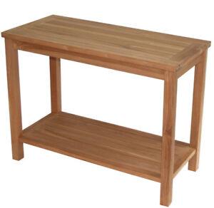 Kmh Sideboard Konsolentisch Teak Beistelltisch Massivholz Tisch