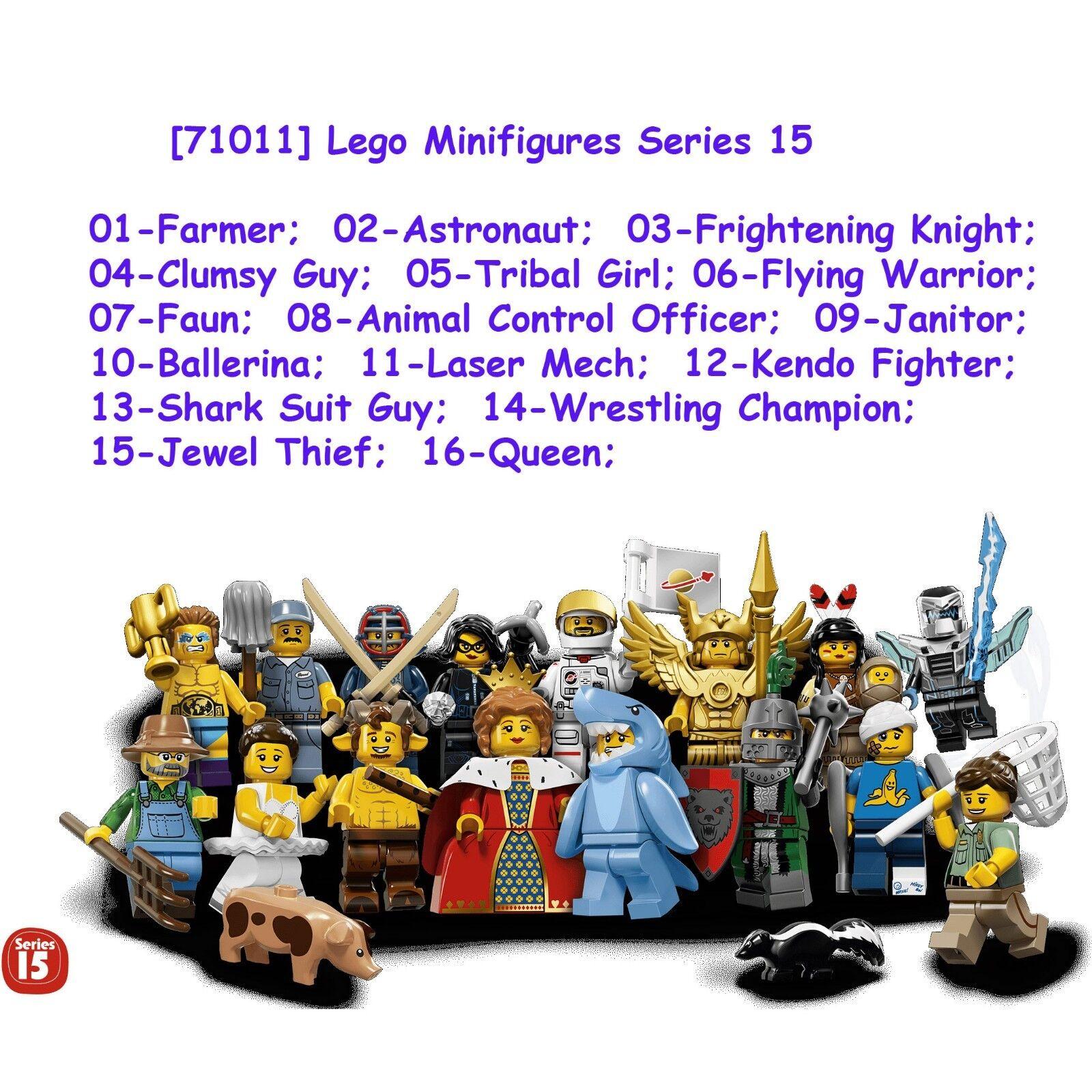 Lego Minifigura - (juego completo de 16) - Serie 15 Nueva Colección 71011