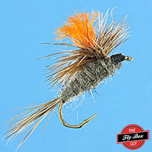 One Dozen Select Sizes*** Adams Parachute HI-VIS ORANGE Post Premium Flies