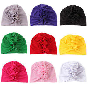 Babies Girl Boy Turban Cap Newborn Hat India Infant Head Wrap for 0-3 Months
