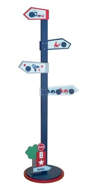 Kids CONCEPT scandic toys 70049 turbo bois enfants portemanteau vestiaire bleu