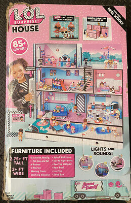 New Lol Surprise Doll House 85 Surprises Wooden Multi Story Girls 696582295417 Ebay