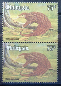 Malaysia Used Stamp - 2 pcs 1979 75 cents Animals Definitive Stamp - Pangolin