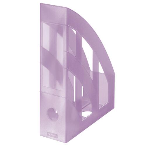 Farbe Plastik Stehordner transluzent pastell flieder Herlitz Stehsammler