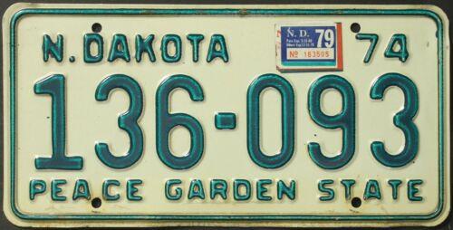 Original Nummernschild License Plate USA North Dakota VARIOUS TYPES Plaque Targa