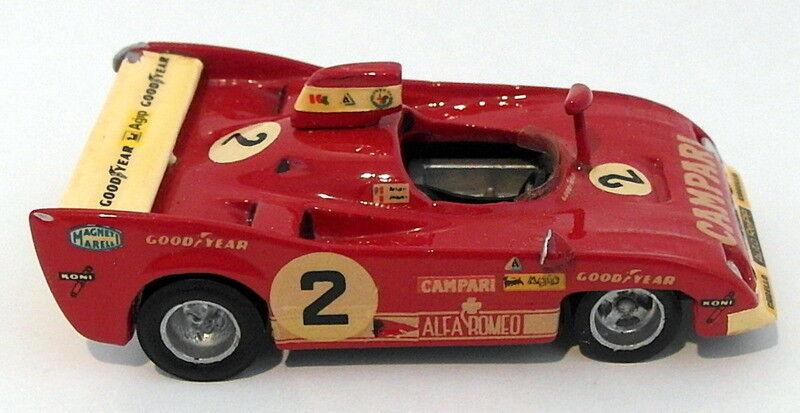 John Day 1 43 Scale White Metal  - 1973 1973 1973 Alfa Romeo 33 TT 12 - Red 93d983