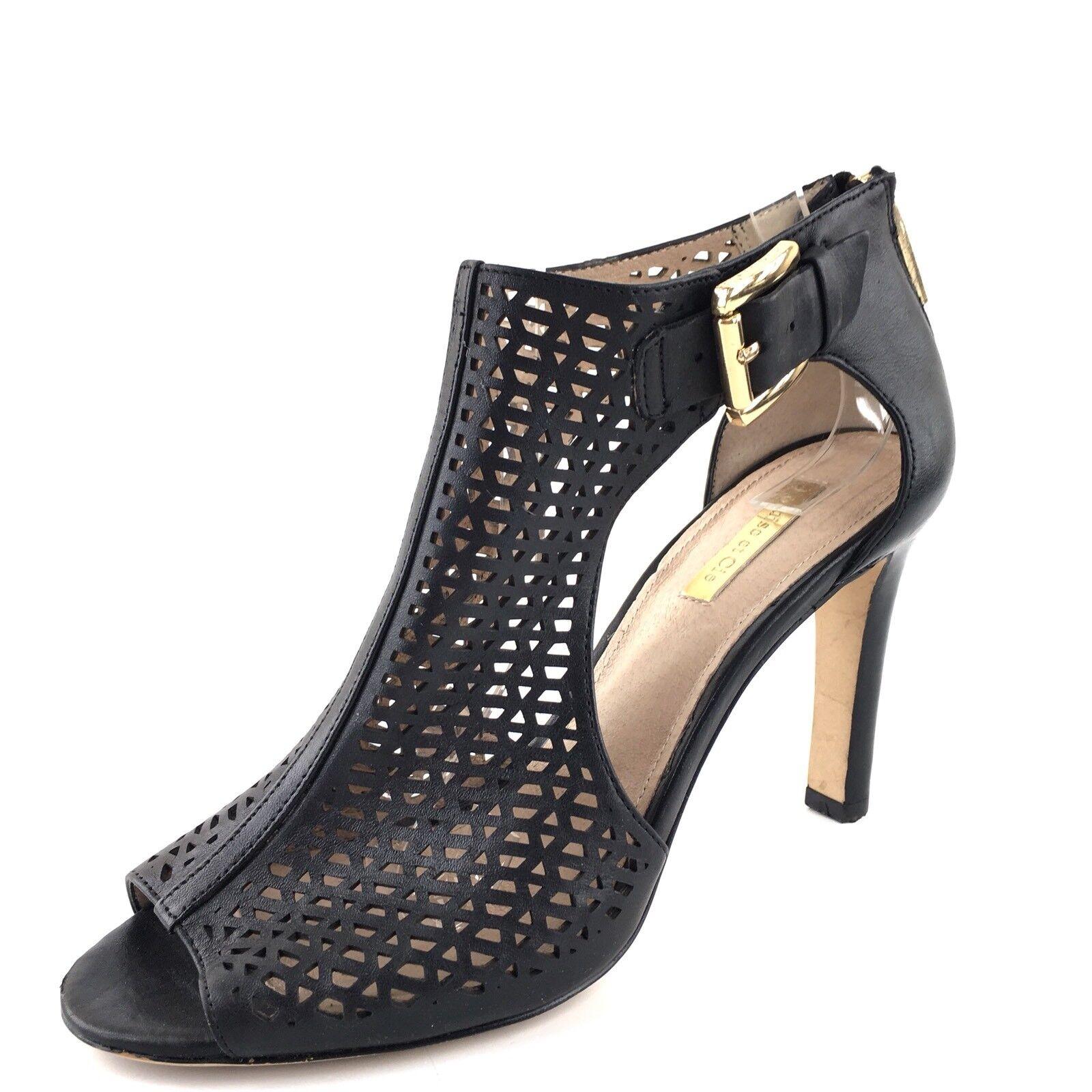 louise et cie cie cie olivia cuir noir ouvre toe bottines femme taille 7 m 6af01d