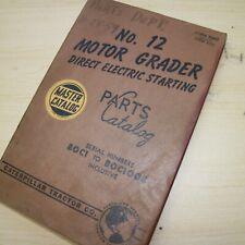 Cat Caterpillar 12 Motor Road Grader Parts Manual Book 80c Series Catalog List