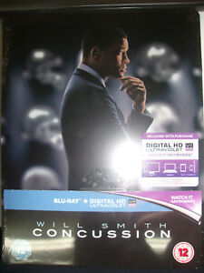 Concussion-Limited-Edition-Steelbook-Blu-ray-UK-Import-New-Sealed-OOP