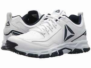 ee5dfbd3416 Image is loading Men-Reebok-Ridgerider-Leather-Trail-Shoes-CN0955-White-
