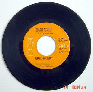 1974-039-S-45-R-P-M-RECORD-GEORGE-McCRAE-ROCK-YOUR-BABY-PART-1-amp-2