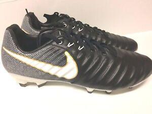 premium selection 1b053 533f4 Details about Nike Tiempo Legacy III FG Black & White Kangaroo Leather  897748 002 Sz 9