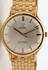 Vintage 1940s $12,000 OMEGA 18k Yellow Gold AUTOMATIC Mens Dress Watch 80g RARE