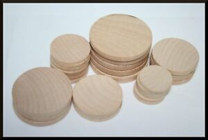 Details About Various Rounded Wood Circle Discs Cutouts Wooden Coins Wood Small Kids Craft