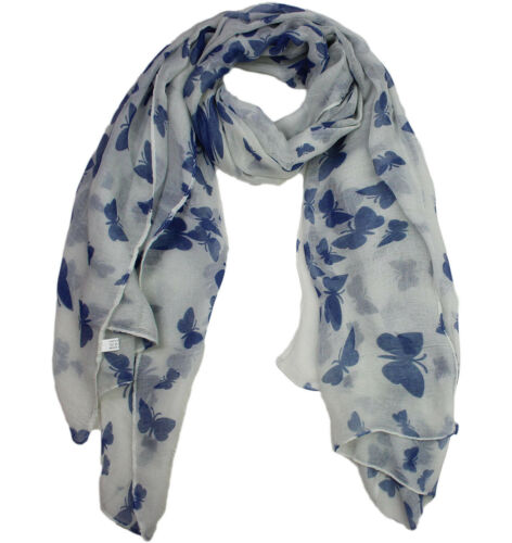Ladies Women/'s Girl/'s Scarf Wrap Butterfly Birds Animals Print Winter Long Large
