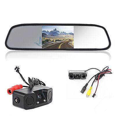 Telecamera Retromarcia Due Sensori Di Parcheggio 170° HD Retrocamera Auto Camper