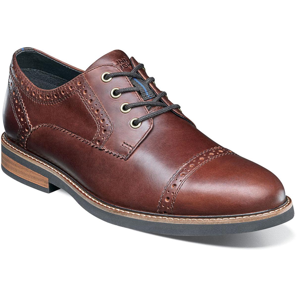 Nunn Bush Men's Overland Cap Toe Oxford Rust Leather shoes 84775-223