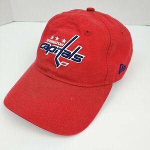 Washington-Capitals-New-Era-9twenty-NHL-Hockey-Red-Strapback-Hat-Baseball-Cap
