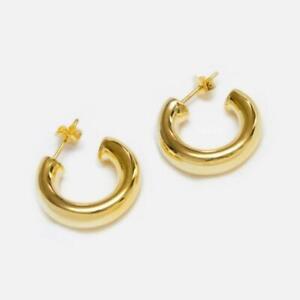 Gold-Hoop-Earrings-Chunky-Hoop-Earrings-Thick-Hoop-Earrings-Lightweight-Hoops
