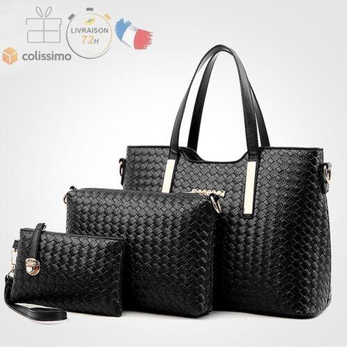 Cuir Set Bag En Noir Sacs Bandoulière Key FemmeSac À Main L54ARj