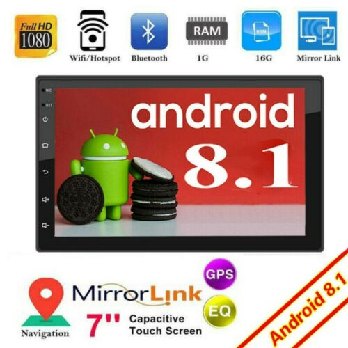 Android 8.1 Autoradio mit Navi Bluetooth Navigation Doppel 2DIN USB GPS WIFI MP3