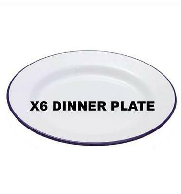 Home, Furniture & Diy Cookware, Dining & Bar X6 Falcon Enamelware Dinner Plate Dish Cookware Oven Bake Ware 20/22/24/26cm