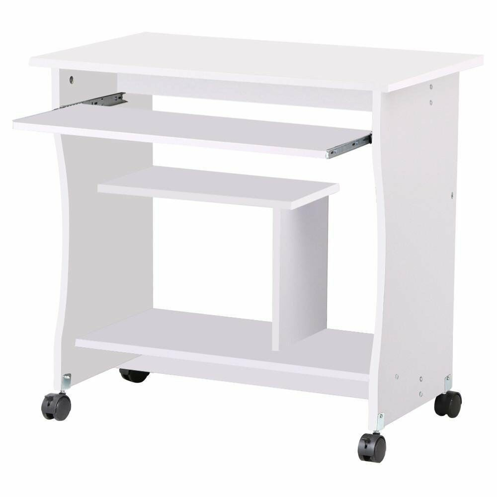 Small Mobile Computer Desk Workstation Study Laptop Table Home Office Furniture