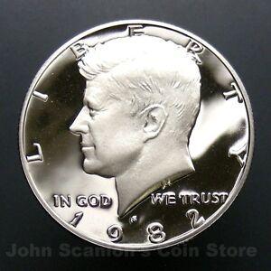 1982 S KENNEDY HALF DOLLAR GEM DEEP CAMEO PROOF US COIN