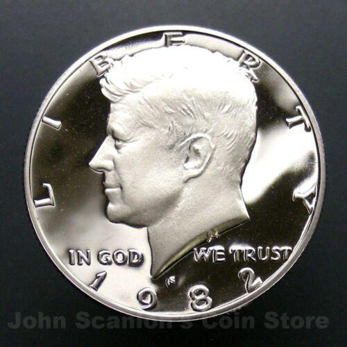 1982-S Kennedy Half Dollar Coin Gem Proof Deep Cameo U.S