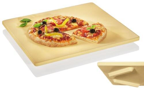 PIETRA PER PIZZA CON PIEDI PIEDINI PER FORNO 35X40 CM PANE SURGELATI PRODOTTI