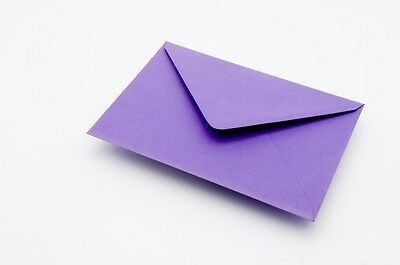 50 C6 Envelopes Choice of 18 colours for invitations A6 Card craft FREE AUS P&P
